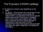 the purposes of egw s writings