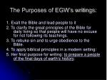 the purposes of egw s writings14
