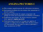 angina pectoris i