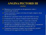 angina pectoris iii cosa fare