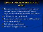 edema polmonare acuto epa