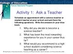 activity 1 ask a teacher