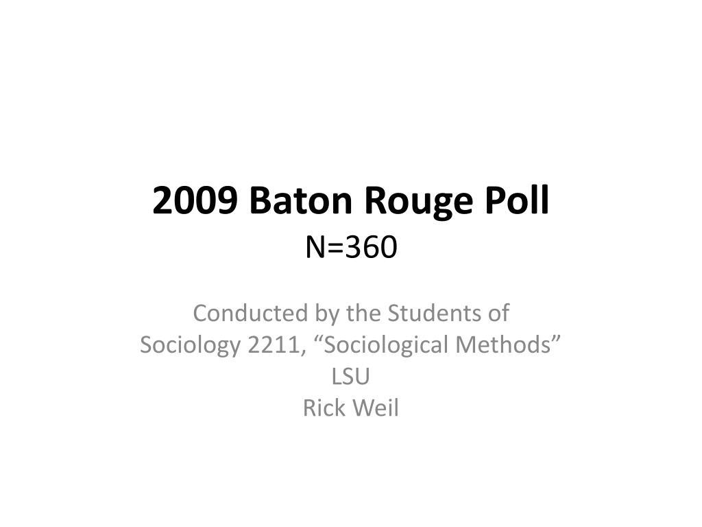 2009 baton rouge poll n 360 l.