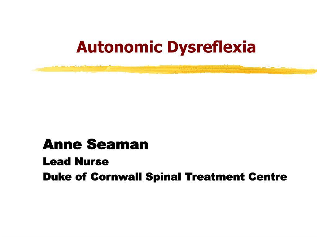 autonomic dysreflexia l.