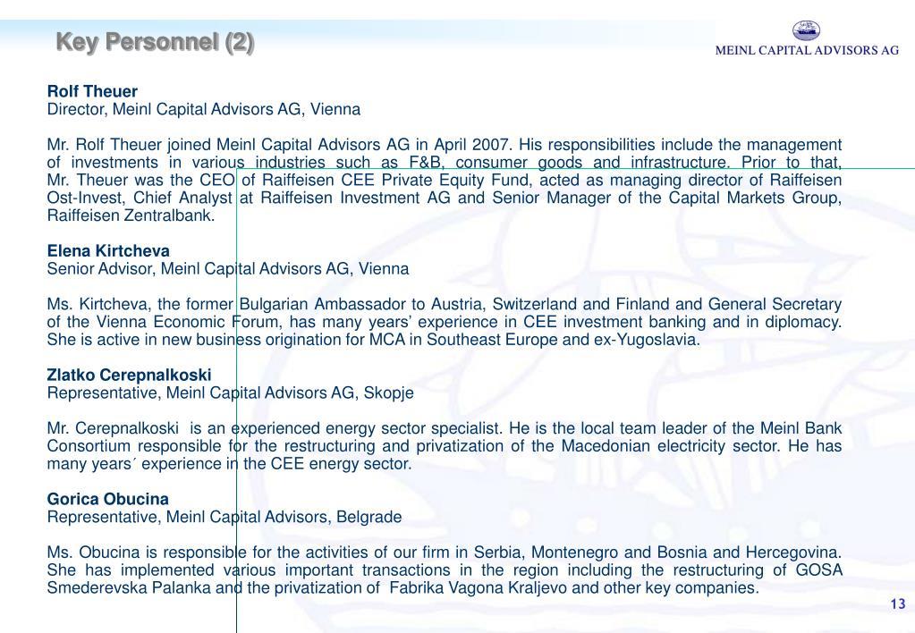 PPT - Meinl Capital Advisors AG PowerPoint Presentation - ID:186133