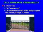 cell membrane permeability1