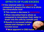 effects of fluid excess1