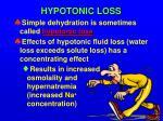 hypotonic loss