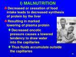 i malnutrition