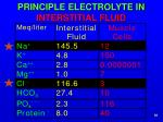 principle electrolyte in interstitial fluid