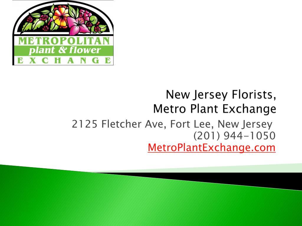 new jersey florists metro plant exchange l.