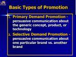 basic types of promotion