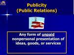 publicity public relations
