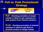 pull vs push promotional strategy