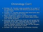 chronology con t