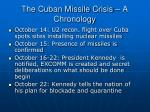 the cuban missile crisis a chronology