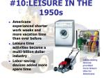 10 leisure in the 1950s
