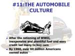 11 the automobile culture