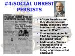 4 social unrest persists