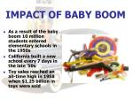 impact of baby boom