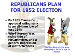 republicans plan for 1952 election