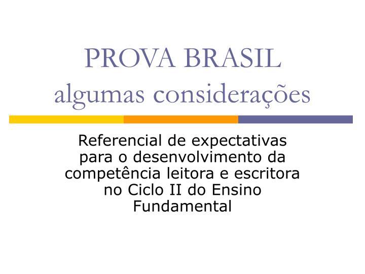 prova brasil algumas considera es n.