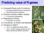 predicting value of r genes