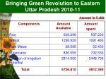 bringing green revolution to eastern uttar pradesh 2010 11