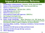 impact of extension reforms