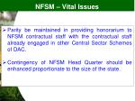 nfsm vital issues