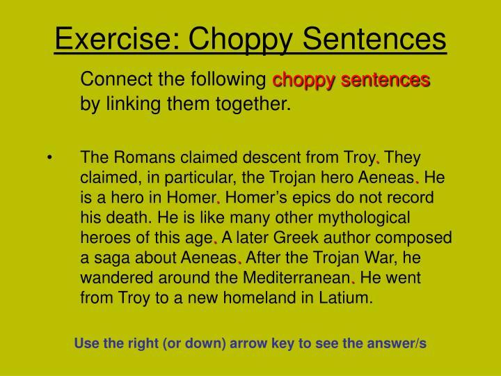 exercise choppy sentences n.