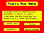 places place names