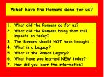 what have the romans done for us5