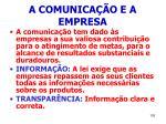 a comunica o e a empresa