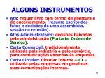 alguns instrumentos