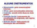 alguns instrumentos90