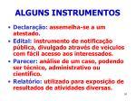 alguns instrumentos91