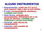 alguns instrumentos92