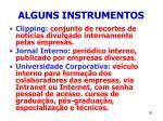 alguns instrumentos93