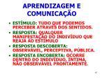 aprendizagem e comunica o