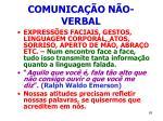 comunica o n o verbal