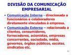divis o da comunica o empresarial