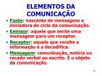 elementos da comunica o