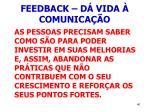 feedback d vida comunica o40