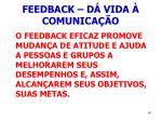 feedback d vida comunica o41