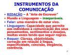 instrumentos da comunica o