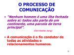 o processo de comunica o