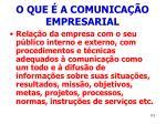 o que a comunica o empresarial