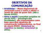 objetivos da comunica o
