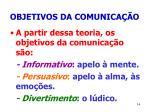 objetivos da comunica o14